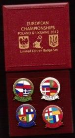 Ukraine - 2012 EUROS box set 4 badges