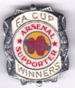Arsenal - Insert : FA Cup Winners, Large Silver