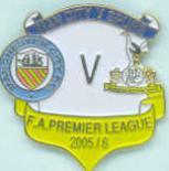 v Spurs match badge 05/06