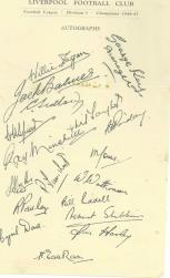 Autograph Sheet 1940s
