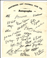 1940s pre-printed autograph sheet