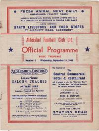 Aldershot v Exeter City - 1948/1949
