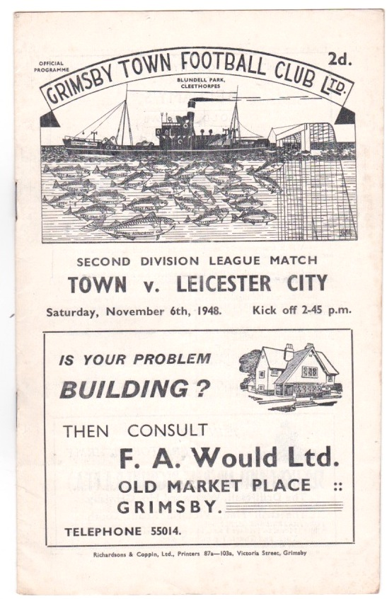 Grimsby  v Leicester City - 1948/1949