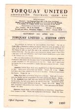 Torquay v Exeter City - 1949/1950