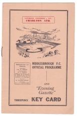 Middlesbrough v Charlton - 1952/1953