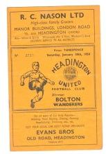 Oxford Utd v Bolton - 1953/1954