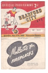 Bradford City v Doncaster - 1948/1949