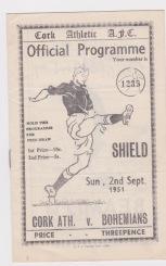 Cork Athletic v Bohemians (Eire) - 1951/1952