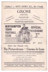 Northampton v Notts. County - 1948/1949