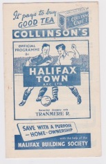 Halifax Town v Tranmere - 1952/1953
