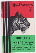 Hull City v Vasas - 1955/1956