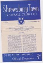 Shrewsbury v Gillingham - 1951/1952