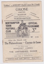 Northampton v Aldershot - 1948/1949