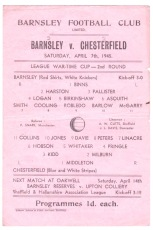 Barnsley v Chesterfield - 1944/1945
