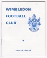 Wimbledon v Arsenal - 1969/1970