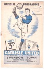 Carlisle United v Swindon Town - 1949/1950