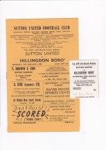 Sutton United v Hillingdon Borough - 1969/1970